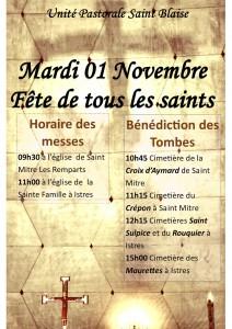 Messes et Bénédictions des Tombes le 01 Novembre 2016