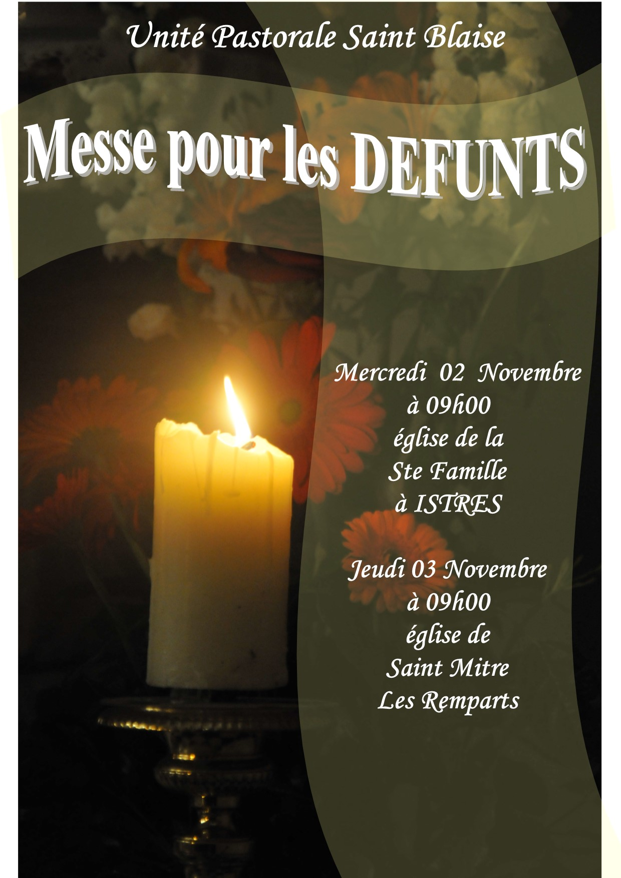 Messes pour les Défunts à Istres et Saint Mitre